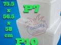 مقایسه یخدان های یونولیتی بزرگ یوکا Yucca پی هفت و پی ده